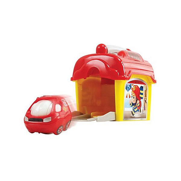 Игровой набор с машинкой Playgo Пожарная станцияМашинки<br>Характеристики товара:<br><br>• возраст: от 1 года;<br>• материал: пластик;<br>• в комплекте: машинка, гараж;<br>• тип батареек: 2 батарейки АА;<br>• наличие батареек: входят в комплект;<br>• размер упаковки: 20х18х11 см;<br>• вес упаковки: 475 гр.;<br>• страна производитель: Китай.<br><br>Игровой набор «Пожарная станция» Playgo включает в себя машинку и ее гараж. При помощи рычага на гараже открываются дверцы, и машинка помчится на помощь. Нажав на кнопку на крыше, загорятся сигналы и ребенок услышит звуки сирены. Гараж выполнен в виде чемоданчика с ручкой, что позволит брать его с собой в гости или на прогулку. Игрушка выполнена из безопасных материалов.<br><br>Игровой набор «Пожарная станция» Playgo можно приобрести в нашем интернет-магазине.<br>Ширина мм: 200; Глубина мм: 180; Высота мм: 110; Вес г: 475; Возраст от месяцев: 12; Возраст до месяцев: 36; Пол: Унисекс; Возраст: Детский; SKU: 7332031;