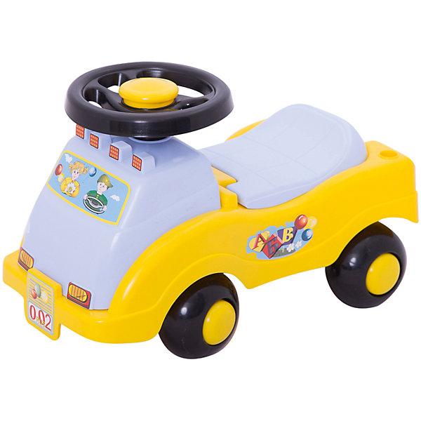 Машинка-каталка № 2 СпектрМашинки-каталки<br>Эта симпатичная каталка в виде машинки - первое транспортное средство малыша. Ведь он еще так мал для велосипеда или самоката, а вот каталка подойдет в самый раз для подвижных игр на свежем воздухе или для игры в помещении. Каталку можно возить за собой с помощью удобной ручки или кататься сидя на ней и перебирая ножками. Поворачивая руль, ребенок может менять направление движения. Под сиденьем находится небольшой отсек, в который можно положить игрушки и другие необходимые мелочи. Грузоподъемность - 25 кг.<br><br>Ширина мм: 460<br>Глубина мм: 220<br>Высота мм: 310<br>Вес г: 1500<br>Возраст от месяцев: 12<br>Возраст до месяцев: 36<br>Пол: Унисекс<br>Возраст: Детский<br>SKU: 7332034