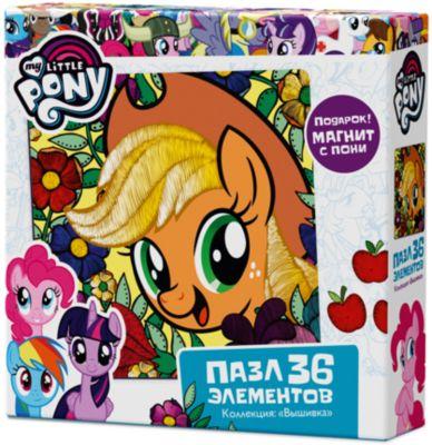 Пазл Origami My little pony 36 элементов + магнит Эпплджек