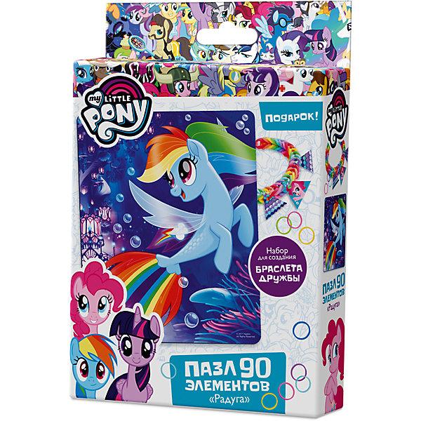 Пазл Origami My little pony 90 элементов + браслетик Рейнбоу ДэшMy little Pony<br>Характеристики товара:<br><br>• возраст: от 3 лет;<br>• пол: для девочек и мальчиков;<br>• герой: мои маленькие пони;<br>• комплект: элементы пазла, 11 подвесок, магнит;<br>• количество элементов: 90 шт.;<br>• материал пазла: картон, бумага, полимерные материалы;<br>• размер упаковки: 18,2х3,2х11,6 см.;<br>• вес: 80 гр.;<br>• упаковка: картонная коробка;<br>• страна обладатель бренда: Россия.<br><br>Пазл настоящий подарок для поклонников полнометражного мультфильма «Мой маленький пони». <br><br>Пазл состоит из 90 деталей и выполнен в морской тематике.<br><br>В подарок в комплекте набор для создания браслета дружбы. <br><br>Пазл можно купить в нашем интернет-магазине.<br><br>Ширина мм: 182<br>Глубина мм: 32<br>Высота мм: 116<br>Вес г: 80<br>Возраст от месяцев: 36<br>Возраст до месяцев: 2147483647<br>Пол: Унисекс<br>Возраст: Детский<br>SKU: 7335555
