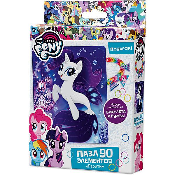 Пазл Origami My little pony 90 элементов + браслетик РаритиMy little Pony<br>Характеристики товара:<br><br>• возраст: от 3 лет;<br>• пол: для девочек и мальчиков;<br>• герой: мои маленькие пони;<br>• комплект: элементы пазла, 11 подвесок, магнит;<br>• количество элементов: 90 шт.;<br>• материал пазла: картон, бумага, полимерные материалы;<br>• размер упаковки: 18,2х3,2х11,6 см.;<br>• вес: 80 гр.;<br>• упаковка: картонная коробка;<br>• страна обладатель бренда: Россия.<br><br>Пазл настоящий подарок для поклонников полнометражного мультфильма «Мой маленький пони». <br><br>Пазл состоит из 90 деталей с пазловым замком и выполнен в морской тематике.<br><br>В комплект также входят 11 карточек-подвесок, магнит, набор для творчества.<br><br>Пазл можно купить в нашем интернет-магазине.<br>Ширина мм: 182; Глубина мм: 32; Высота мм: 116; Вес г: 80; Возраст от месяцев: 36; Возраст до месяцев: 2147483647; Пол: Унисекс; Возраст: Детский; SKU: 7335560;