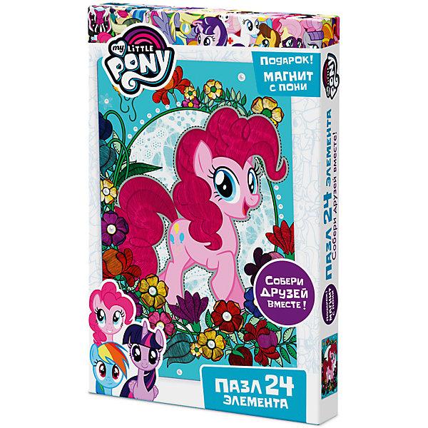 Пазл Origami My little pony 24 элемента + магнит Пинки ПайПазлы для малышей<br>Характеристики товара:<br><br>• возраст: от 3 лет;<br>• пол: для девочек;<br>• герой: мои маленькие пони;<br>• комплект: элементы пазла, магнит;<br>• количество элементов: 24 шт.;<br>• материал пазла: картон, бумага, полимерные материалы;<br>• размер упаковки: 26,5х3,5х17,5 см.;<br>• вес: 150 гр.;<br>• упаковка: картонная коробка;<br>• страна обладатель бренда: Россия.<br><br>Ребенку предстоит собственноручно собрать из 24 деталей яркое и красочное изображение с одной из героинь любимого мультика.<br><br>Пазл за пазлом пони страны Эквестрии будут рассказывать свои истории и делиться секретами.<br><br>В комплект входит небольшой магнит с лошадкой, который можно будет прикрепить на холодильник.<br><br>Пазл можно купить в нашем интернет-магазине.<br>Ширина мм: 265; Глубина мм: 35; Высота мм: 175; Вес г: 150; Возраст от месяцев: 36; Возраст до месяцев: 2147483647; Пол: Унисекс; Возраст: Детский; SKU: 7335562;
