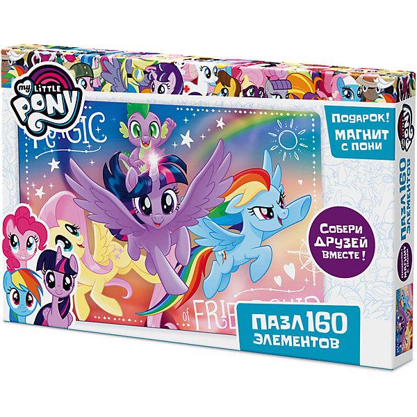 Пазл Origami My little pony 160 элементов + магнит Сумеречная Искорка, Рейнбоу Дэш и ФлаттершайПазлы классические<br>Характеристики товара:<br><br>• возраст: от 3 лет;<br>• пол: для девочек;<br>• герой: мои маленькие пони;<br>• количество деталей: 160 шт.;<br>• комплект: элементы пазла, фигурка с магнитом;<br>• из чего сделана игрушка (состав): картон, пластик, магнит;<br>• размер упаковки: 26,5х3,5х17,5 см.;<br>• вес: 150 гр.;<br>• упаковка: картонная коробка;<br>• страна обладатель бренда: Россия.<br><br>Пазл «Май Литл Пони» от торговой марки Origami состоит из 160 элементов. <br><br>На изображении показаны герои знаменитого мультипликационного сериала - Флаттершай, Сумеречная Искорка и Радуга Дэш.<br><br>В набор входит подарок в виде фигурки пони на магнитике. <br><br>Пазл можно купить в нашем интернет-магазине.<br>Ширина мм: 265; Глубина мм: 35; Высота мм: 175; Вес г: 150; Возраст от месяцев: 36; Возраст до месяцев: 2147483647; Пол: Унисекс; Возраст: Детский; SKU: 7335566;
