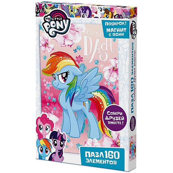 Пазл Origami My little pony 160 элементов + магнит Рарити, Сумеречная Искорка и ФлаттершайMy little Pony<br>Характеристики товара:<br><br>• возраст: от 3 лет;<br>• пол: для девочек;<br>• герой: мои маленькие пони;<br>• количество деталей: 160 шт.;<br>• комплект: элементы пазла, фигурка с магнитом;<br>• из чего сделана игрушка (состав): картон, пластик, магнит;<br>• размер упаковки: 26,5х3,5х17,5 см.;<br>• вес: 150 гр.;<br>• упаковка: картонная коробка;<br>• страна обладатель бренда: Россия.<br><br>Пазл «Май Литл Пони» от торговой марки Origami состоит из 160 элементов. <br><br>Собирание пазлов способствует развитию образного и логического мышления, а герои мультфильма сделают процесс сборки веселым и увлекательным.<br><br>В набор входит подарок в виде фигурки на магнитике. <br><br>Пазл можно купить в нашем интернет-магазине.<br>Ширина мм: 265; Глубина мм: 35; Высота мм: 175; Вес г: 150; Возраст от месяцев: 36; Возраст до месяцев: 2147483647; Пол: Унисекс; Возраст: Детский; SKU: 7335568;