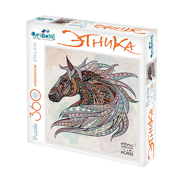 Пазл Origami Арт-терапия Лошадь, 360 элементовПазлы классические<br>Характеристики товара:<br><br>• возраст: от 6 лет;<br>• пол: для девочек и мальчиков;<br>• количество деталей: 360 шт.;<br>• из чего сделана игрушка (состав): бумага, картон;<br>• размер упаковки: 24,3х24,3х4,5 см.;<br>• вес: 230 гр.;<br>• упаковка: картонная коробка;<br>• страна обладатель бренда: Россия.<br><br>Пазл «Лошадь» выполнен в этническом стиле. <br><br>Комплект включает в себя 360 элементов, выполненных из качественного и плотного картона. Элементы пазла легко соединяются друг с другом, а композиция сохраняет свою целостность при умеренном внешнем воздействии.<br><br>Ира в пазл поможет ребенку проявить больше усидчивости, развить логическое мышление.<br><br>Пазл можно купить в нашем интернет-магазине.<br>Ширина мм: 243; Глубина мм: 243; Высота мм: 45; Вес г: 230; Возраст от месяцев: 72; Возраст до месяцев: 2147483647; Пол: Унисекс; Возраст: Детский; SKU: 7335572;