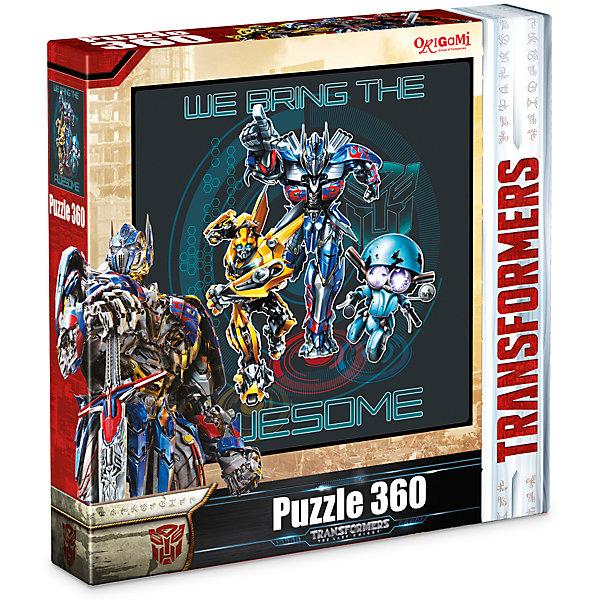 Пазл Origami Transformers С нами круче, 360 элементовТрансформеры<br>Характеристики товара:<br><br>• возраст: от 3 лет;<br>• пол: для девочек и мальчиков;<br>• количество деталей: 360 шт.;<br>• герой: Трансформеры;<br>• комплект: элементы пазла, жетон, магнит;<br>• из чего сделана игрушка (состав): картон, бумага, металл, полимер, магнит;<br>• размер упаковки: 24,3х4,5х24,3 см.;<br>• вес: 230 гр.;<br>• упаковка: картонная коробка;<br>• страна обладатель бренда: Россия.<br><br>Металлический пазл «Трансформеры» состоит из 360 композитных панелей с пазловыми замками. <br><br>Панельки изготовлены из плотного картона, спрессованного с металлическим слоем.<br><br>Пазл является сложной головоломкой и рассчитан на любителей, которые уже имеют опыт сборки картин из большого количества элементов.<br><br>В набор входит жетон с изображением логотипа «Трансформеры».<br><br>Пазл «Трансформеры» можно купить в нашем интернет-магазине.<br><br>Ширина мм: 243<br>Глубина мм: 45<br>Высота мм: 243<br>Вес г: 230<br>Возраст от месяцев: 36<br>Возраст до месяцев: 2147483647<br>Пол: Унисекс<br>Возраст: Детский<br>SKU: 7335575