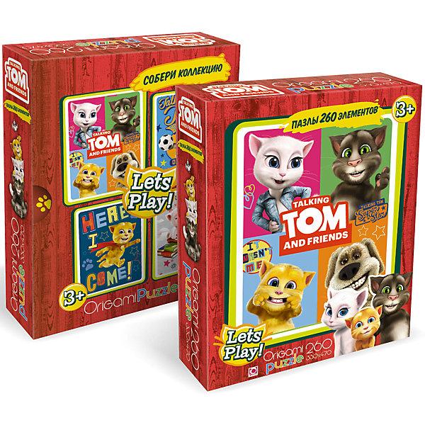 Пазл Origami Talking Friends Улыбки, 260 элементовПазлы классические<br>Характеристики товара:<br><br>• возраст: от 3 лет;<br>• пол: для девочек и мальчиков;<br>• количество деталей: 260 шт.;<br>• из чего сделана игрушка (состав): картон;<br>• размер собранного пазла: 33х47 см.;<br>• размер упаковки: 18х5х23 см.;<br>• вес: 226 гр.;<br>• упаковка: картонная коробка;<br>• страна обладатель бренда: Россия.<br><br>Пазл «Улыбки» состоит из сравнительно небольшого количества элементов, поэтому собирать его смогут даже дошкольники. <br><br>На готовой картинке очень реалистично изображен говорящий попугай Том и его лучшие друзья - мышка и коты.<br><br>Собранные портреты на цветном ярком фоне будут отлично смотреться в любой комнате и будут радовать каждый день как девочку, так и мальчика.<br><br>Пазл «Улыбки» можно купить в нашем интернет-магазине.<br>Ширина мм: 180; Глубина мм: 50; Высота мм: 230; Вес г: 226; Возраст от месяцев: 36; Возраст до месяцев: 2147483647; Пол: Унисекс; Возраст: Детский; SKU: 7335589;