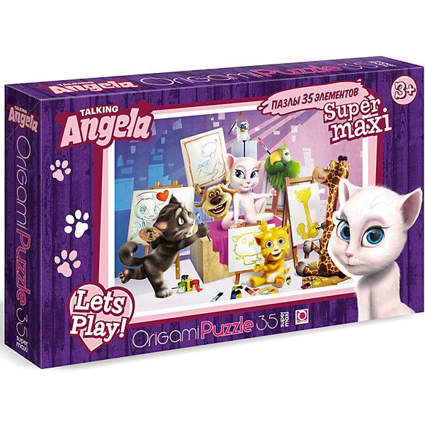 Пазл Maxi Origami Talking Friends Художники, 35 элементовПазлы для малышей<br>Характеристики товара:<br><br>• возраст: от 3 лет;<br>• пол: для девочек и мальчиков;<br>• количество деталей: 35 шт.;<br>• из чего сделана игрушка (состав): картон;<br>• размер собранного пазла: 33х47 см.;<br>• размер упаковки: 37,3х5,4х23 см.;<br>• вес: 322 гр.;<br>• упаковка: картонная коробка;<br>• страна обладатель бренда: Россия.<br><br>Макси-пазл «Художники» состоит из крупных деталей, которые легко соединяются друг с другом.<br><br>Пазл позволит организовать увлекательный игровой процесс с весёлой компанией харизматичных друзей котов и их друзьями: жирафом, попугаем, птичкой Ларри, щенком Беном.<br><br>Необходимо собрать яркую картинку из маленьких кусочков.<br><br>Сбрка пазла развивает внимательность, логику, а также аналитические способности.<br><br>Пазл «Художники» можно купить в нашем интернет-магазине.<br>Ширина мм: 373; Глубина мм: 54; Высота мм: 230; Вес г: 322; Возраст от месяцев: 36; Возраст до месяцев: 2147483647; Пол: Унисекс; Возраст: Детский; SKU: 7335592;
