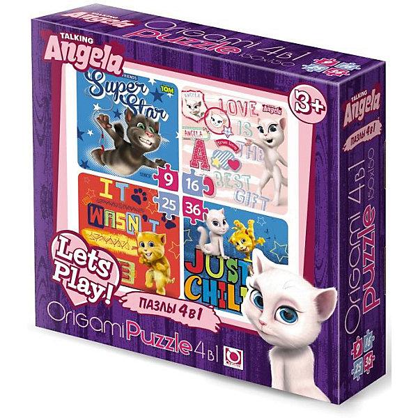 Пазл 4 в 1 Origami Talking Friends, 9/16/25/36 элементовПазлы для малышей<br>Характеристики товара:<br><br>• возраст: от 3 лет;<br>• пол: для девочек и мальчиков;<br>• количество деталей: 9, 16, 25, 36 шт.;<br>• из чего сделана игрушка (состав): картон;<br>• размер собранного пазла: 15х15 см.;<br>• размер упаковки: 18х5х18 см.;<br>• вес: 160 гр.;<br>• упаковка: картонная коробка;<br>• страна обладатель бренда: Россия.<br><br>Пазл говорящие друзья - зверюшки, покорившие абсолютно весь мир. На картинке изображен кот Том и его харизматичные друзья.<br><br>Пазл предназначен для начинающих, так как он состоит из 4 пазлов с разными сюжетами и небольшого количества деталей.<br><br>Стоит начинать с малого количества, чтобы после переходить на более сложные и мелкие детали.<br><br>Пазл 4 в 1 Talking Friends можно купить в нашем интернет-магазине.<br><br>Ширина мм: 180<br>Глубина мм: 50<br>Высота мм: 180<br>Вес г: 160<br>Возраст от месяцев: 36<br>Возраст до месяцев: 2147483647<br>Пол: Унисекс<br>Возраст: Детский<br>SKU: 7335593