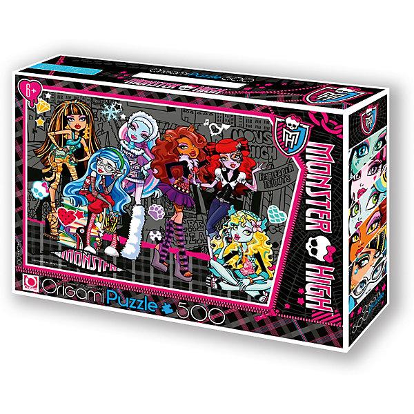 Пазл Origami Monster High 500 элементов + маркер с блесткамиПазлы классические<br>Характеристики товара:<br><br>• возраст: от 6 лет;<br>• пол: для девочек;<br>• герой: Монстр Хай;<br>• количество деталей: 500 шт.;<br>• из чего сделана игрушка (состав): картон;<br>• комплект: детали пазла, маркер с блестками;<br>• размер упаковки: 32х6х22 см.;<br>• размер собранной картинки: 34х48 см.;<br>• вес: 292 гр.;<br>• упаковка: картонная коробка с ручкой;<br>• страна обладатель бренда: Россия.<br><br>Пазл Monster High украшает изображение нескольких учениц Школы Монстров. <br><br>Головоломка выполнена в контрастной гамме, удобной и интересной для сборки. Ее можно собирать как самостоятельно, так и в компании подружек.<br><br>В комплект входит маркер с блестками. <br><br>Детали пазла отличаются яркостью и насыщенностью цветов, края обработанные, ровные, обеспечивающие отличную стыковку.<br><br>Пазл Monster High можно купить в нашем интернет-магазине.<br>Ширина мм: 320; Глубина мм: 60; Высота мм: 220; Вес г: 292; Возраст от месяцев: 72; Возраст до месяцев: 2147483647; Пол: Унисекс; Возраст: Детский; SKU: 7335596;