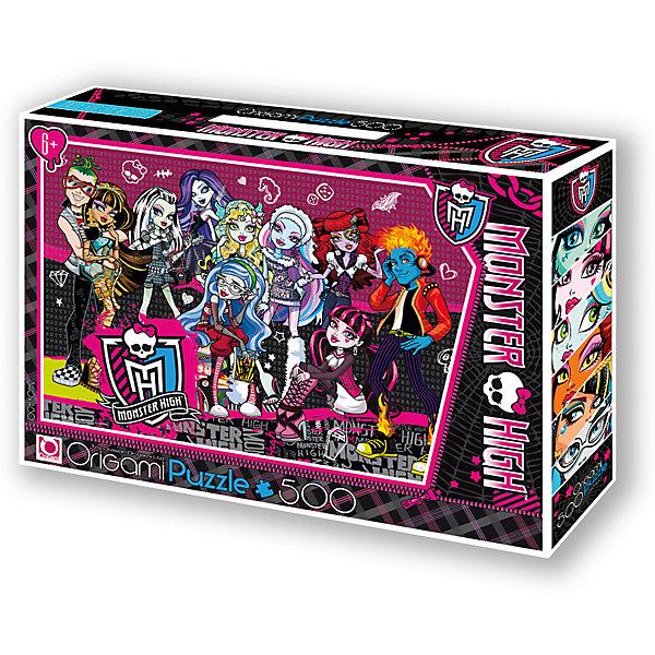 Пазл Origami Monster High 500 элементов + маркер с блесткамиПазлы классические<br>Характеристики товара:<br><br>• возраст: от 6 лет;<br>• пол: для девочек;<br>• герой: Монстр Хай;<br>• количество деталей: 500 шт.;<br>• из чего сделана игрушка (состав): картон;<br>• комплект: детали пазла, маркер с блестками;<br>• размер упаковки: 32х6х22 см.;<br>• вес: 292 гр.;<br>• упаковка: картонная коробка с ручкой;<br>• страна обладатель бренда: Россия.<br><br>Пазл Monster High украшает изображение нескольких учениц Школы Монстров. <br><br>Головоломка выполнена в контрастной гамме, удобной и интересной для сборки. <br><br>В комплект входит маркер с блестками. <br><br>Детали пазла крупные, яркие. Правила игры: вскрыть упаковку и собрать игру по картинке.<br><br>Пазл Monster High можно купить в нашем интернет-магазине.<br><br>Ширина мм: 320<br>Глубина мм: 60<br>Высота мм: 220<br>Вес г: 292<br>Возраст от месяцев: 72<br>Возраст до месяцев: 2147483647<br>Пол: Унисекс<br>Возраст: Детский<br>SKU: 7335598