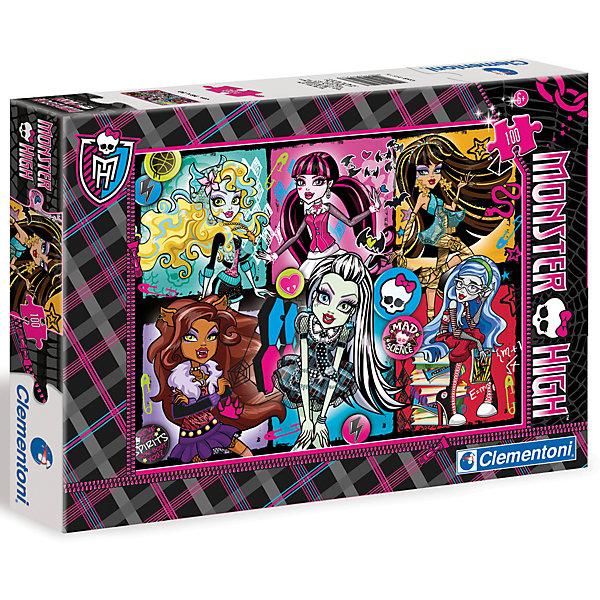 Пазл Clementoni Monster High, 100 элементовMonster High<br>Характеристики товара:<br><br>• возраст: от 5 лет;<br>• пол: для девочек;<br>• количество элементов: 100 шт.;<br>• из чего сделана игрушка (состав): картон;<br>• размер упаковки: 31,5х4,4х22 см.;<br>• вес: 348 гр.;<br>• размер готовой картинки: 22х22 см.;<br>• упаковка: картонная коробка;<br>• страна обладатель бренда: Россия.<br><br>Пазл с героями «Школы Монстров» - яркая, интересная головоломка, которая имеет большой развивающий потенциал. <br><br>На картинке пазла изображены героини-монстры в своих сногшибательных образах Клео де Нил, Френки Штейн, Дракулаура и Клодин Вульф. <br><br>Пазл напечатан на качественном и плотном картоне. Детали идеально состыкуются друг с другом, так что пазл не рассыпается в процессе сборки.<br><br>Пазл «Школа монстров» можно купить в нашем интернет-магазине.<br><br>Ширина мм: 315<br>Глубина мм: 44<br>Высота мм: 220<br>Вес г: 348<br>Возраст от месяцев: 60<br>Возраст до месяцев: 2147483647<br>Пол: Унисекс<br>Возраст: Детский<br>SKU: 7335605