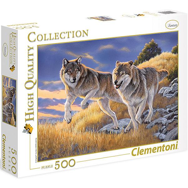 Пазл Clementoni Волки, 500 элементовПазлы классические<br>Характеристики товара:<br><br>• возраст: от 7 лет;<br>• пол: для девочек и мальчиков;<br>• количество элементов: 500 шт.;<br>• из чего сделана игрушка (состав): картон;<br>• размер упаковки: 34,4х25,4х4,6 см.;<br>• вес: 483 гр.;<br>• упаковка: картонная коробка;<br>• размер собранного пазла: 49х36 см.;<br>• страна обладатель бренда: Италия.<br><br>Пазл «Волки» понравится девочкам и мальчикам. <br><br>Внимательно подбирая и соединяя детали пазла, дети смогут увидеть прекрасную картину, изображающую красивую пару волков, бегущих по склону горы. <br><br>Если готовую картину поместить в рамку, она станет интересным украшением интерьера или хорошим подарком.<br><br>Пазл «Волки» можно купить в нашем интернет-магазине.<br><br>Ширина мм: 344<br>Глубина мм: 254<br>Высота мм: 46<br>Вес г: 483<br>Возраст от месяцев: 84<br>Возраст до месяцев: 2147483647<br>Пол: Унисекс<br>Возраст: Детский<br>SKU: 7335606