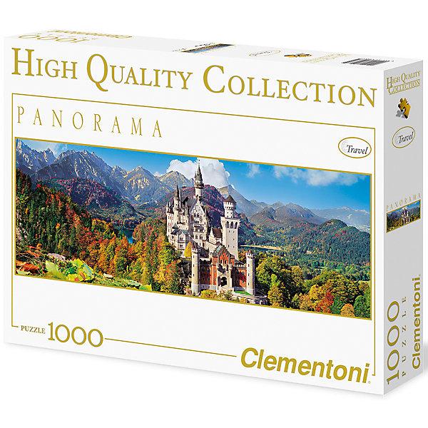 Панорманый пазл Clementoni Бавария, Замок Нойшванштайн осенью, 1000 элементовПазлы классические<br>Характеристики товара:<br><br>• возраст: от 7 лет;<br>• пол: для девочек и мальчиков;<br>• количество элементов: 1000 шт.;<br>• из чего сделана игрушка (состав): картон;<br>• размер упаковки: 37х5,5х28,1 см.;<br>• вес: 875 гр.;<br>• упаковка: картонная коробка;<br>• размер собранного пазла: 98х33 см.;<br>• страна обладатель бренда: Италия.<br><br>Пазл «Замок Нойшванштайн осенью» сможет порадовать прекрасным пейзажем с изображением старинного замка на фоне высоких гор и красивых осенних деревьев. <br><br>Пазл состоит из 1000 элементов, его сборка потребует усидчивости и терпения, однако готовая работа может стать достойным украшением интерьера любой комнаты.<br><br>Пазл «Бовария: Замок Нойшванштайн осень» можно купить в нашем интернет-магазине.<br>Ширина мм: 370; Глубина мм: 55; Высота мм: 281; Вес г: 875; Возраст от месяцев: 84; Возраст до месяцев: 2147483647; Пол: Унисекс; Возраст: Детский; SKU: 7335609;