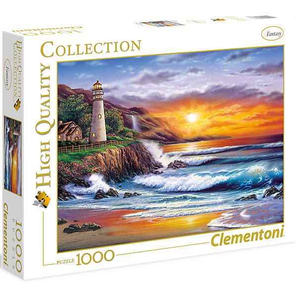 Пазл Clementoni Маяк на закате, 1000 элементовПазлы классические<br>За основу самой многочисленной  коллекции Clementoni High Quality взяты известные картины, пейзжи, достопримечательности, фотографии и даже древние карты мира! На картине изображен восхитительный закат на берегу океана и маяк на пригорке. Составление картинки из элементов пазла способствует развитию наглядно-образного, аналитического и логического видов мышления. Оказывает благотворное влияние на развитие зрительной памяти, внимания и воображения. Размер пазла: 69х50 см. Размер коробки: 37х28,1х5,5 см. Пазл напечатан и изготовлен в Италии из высококачественных материалов.<br><br>Ширина мм: 370<br>Глубина мм: 281<br>Высота мм: 58<br>Вес г: 944<br>Возраст от месяцев: 84<br>Возраст до месяцев: 2147483647<br>Пол: Унисекс<br>Возраст: Детский<br>SKU: 7335619