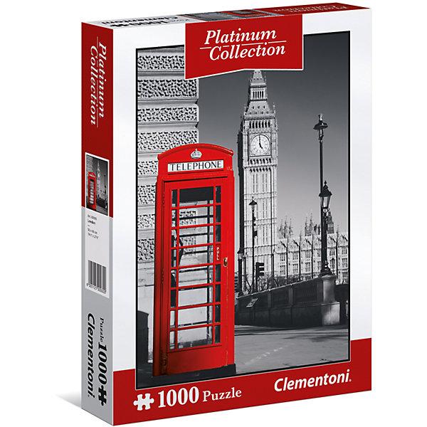 Пазл Clementoni Платиновая коллекция Лондон, 1000 элементовПазлы классические<br>Характеристики товара:<br><br>• возраст: от 7 лет;<br>• пол: для девочек и мальчиков;<br>• количество элементов: 1000 шт.;<br>• из чего сделана игрушка (состав): картон;<br>• размер упаковки: 28,1х37х5,8 см.;<br>• вес: 966 гр.;<br>• упаковка: картонная коробка;<br>• размер собранного пазла: 69х50 см.;<br>• страна обладатель бренда: Италия.<br><br>Пазл «Платиновая коллекция. Лондон» представляет набор элементов, из которых предлагается собрать картину с изображением  достопримечательности.<br><br>Из элементов данного пазла предстоит собрать фотографическое изображение знаменитого символа Лондона - красной телефонной будки на фоне Вестминстерского дворца и башни Елизаветы. <br><br>Эффект картины заключается в цветовом контрасте красной телефонной кабины с черно-белым фоном.<br><br>Пазл «Лондон» можно купить в нашем интернет-магазине.<br>Ширина мм: 281; Глубина мм: 370; Высота мм: 58; Вес г: 966; Возраст от месяцев: 84; Возраст до месяцев: 2147483647; Пол: Унисекс; Возраст: Детский; SKU: 7335625;