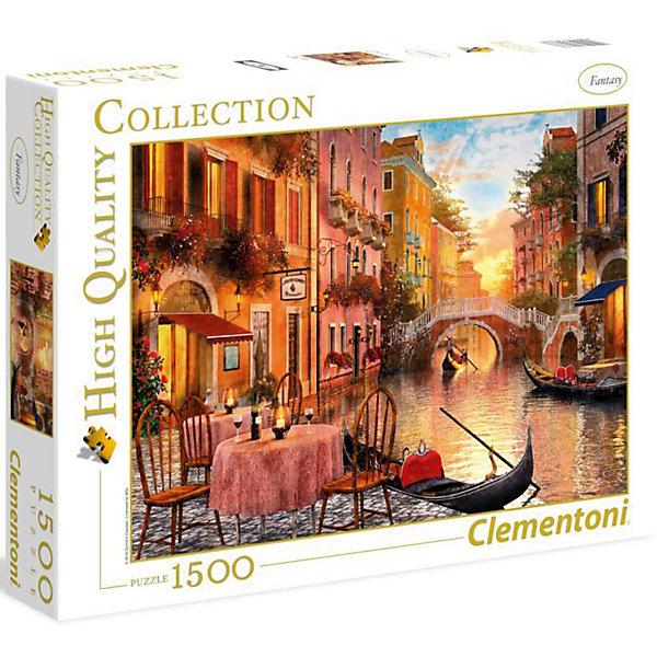 Пазл Clementoni Венеция, 1500 элементовПазлы классические<br>Характеристики товара:<br><br>• возраст: от 7 лет;<br>• пол: для девочек и мальчиков;<br>• количество деталей: 1500 шт.;<br>• из чего сделана игрушка (состав): картон;<br>• размер упаковки: 37х28,1х5,5 см.;<br>• вес: 1,09 кг.;<br>• упаковка: картонная коробка;<br>• размер собранного пазла: 59,2х84,3 см.;<br>• страна обладатель бренда: Италия.<br><br>Пазл «Венеция» представленный итальянской торговой маркой Clementoni, состоит из полутора тысяч деталей. <br><br>На картине изображена типичная улица одного из самых знаменитых городов мира - Венеции, с уютным уличным кафе на переднем плане, освещенная лучами заходящего солнца. <br><br>Пазл «Венеция» можно купить в нашем интернет-магазине.<br>Ширина мм: 370; Глубина мм: 55; Высота мм: 281; Вес г: 1090; Возраст от месяцев: 84; Возраст до месяцев: 2147483647; Пол: Унисекс; Возраст: Детский; SKU: 7335631;