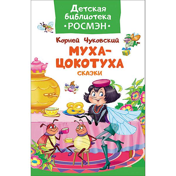 Чуковский К. Муха-цокотуха и другие сказки (Детская библиотека Росмэн)Русские сказки<br>Характеристики:<br><br>• возраст: от 3 лет;<br>• тип игрушки: книга;<br>• тип: сказки;<br>• иллюстрации: цветные;<br>• размер: 13,2х0,8х20 см;<br>• вес: 110 гр;<br>• автор: Чуковский К. И.;<br>• иллюстрации: Набутовский С.;<br>•количество страниц: 32;<br>• материал: картон, бумага;<br>• издатель: Rosman.<br><br>Чуковский К. «Муха-цокотуха и другие сказки»  – книга с цветными иллюстрациями от издательства Росмэн. Она подходит для детей от 3 лет и включает в себя популярные сказки.<br><br>В сборник вошли сказки Корнея Чуковского «Муха-Цокотуха», «Краденое солнце» и «Мойдодыр». Эти сказки знают и любят все, а многие даже цитируют наизусть. Пора познакомить с ними своих детей и внуков. Книгу украшают замечательные иллюстрации Сергея Набутовского, которые как нельзя лучше дополняют истории. Картинки в книжках помогают малыш лучше воспринимать информацию.<br><br>Чтение с раннего возраста прививает ребенку усидчивость, умение сосредотачиваться и грамотность, помогает в дальнейшее учебе.<br><br>Книгу  Чуковского К. «Муха-цокотуха и другие сказки»  можно купить в нашем интернет-магазине.<br>Ширина мм: 132; Глубина мм: 8; Высота мм: 200; Вес г: 110; Возраст от месяцев: 36; Возраст до месяцев: 2147483647; Пол: Унисекс; Возраст: Детский; SKU: 7335754;