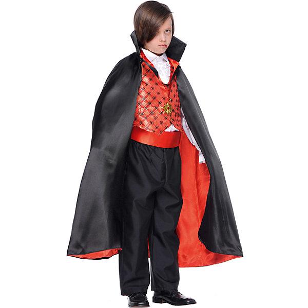 Карнавальный костюм Veneziano Граф Дракула для мальчикаКарнавальные костюмы для мальчиков<br>Характеристики товара:<br><br>• цвет: черный;<br>• состав: 80% полиэстер, 20% акрил;<br>• в комплекте: кофта с плащом, штаны, украшение на шею;<br>• внимание: обувь в комплект не входит!;<br>• сезон: круглый год;<br>• страна бренда: Италия;<br>• страна изготовитель: Италия.<br><br>Итальянский карнавальный костюм Veneziano «Граф Дракула» Карнавал в Венеции не обходиться без Графа и в этом нам помогли итальянские дизайнеры «Veneziano». Черный плащ на красной подкладке дополняет образ Графа. Украшение на шее. Ваш ребёнок станет заметной фигурой на любом празднике. Обувь в комплект не входит. <br><br>Карнавальный костюм Veneziano можно купить в нашем интернет-магазине.<br>Ширина мм: 236; Глубина мм: 16; Высота мм: 184; Вес г: 177; Цвет: разноцветный; Возраст от месяцев: 24; Возраст до месяцев: 36; Пол: Мужской; Возраст: Детский; Размер: 98,116,110,104; SKU: 7336800;