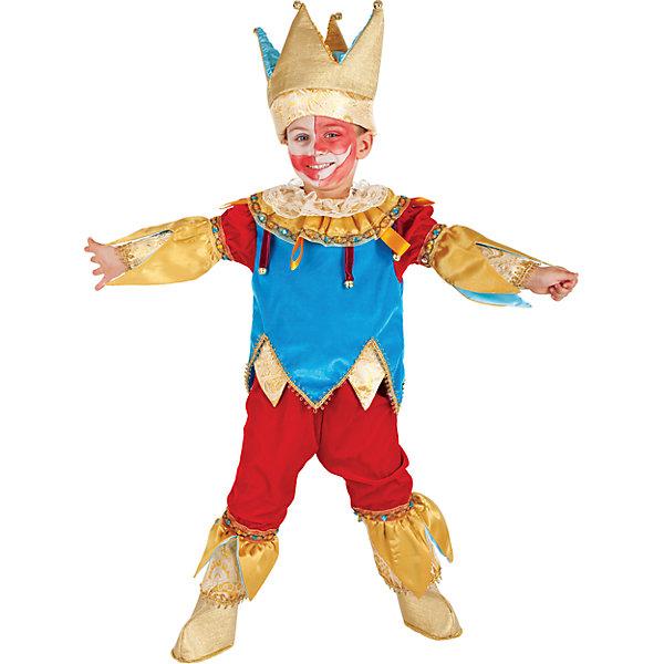 Карнавальный костюм Veneziano Петрушка для мальчикаКарнавальные костюмы для мальчиков<br>Карнавальный костюм Veneziano для мальчика<br>Итальянский карнавальный костюм Veneziano «Петрушка» Какой карнавал может обойтись без этого положительного героя? Никакой! Этот яркий, запоминающийся своими красками костюм не оставит никого равнодушным. Колпак украшающий голову дополнен бубенчиками, яркие сапожки добавляют костюму законченный образ. И вот, радостный образ готов шалить и «заражать» всех хорошим настроением. Состав: 80% полиэстер 20% акрил<br>Состав:<br>80% полиэстер 20%акрил<br><br>Ширина мм: 236<br>Глубина мм: 16<br>Высота мм: 184<br>Вес г: 177<br>Цвет: разноцветный<br>Возраст от месяцев: 24<br>Возраст до месяцев: 36<br>Пол: Мужской<br>Возраст: Детский<br>Размер: 110,98<br>SKU: 7336812