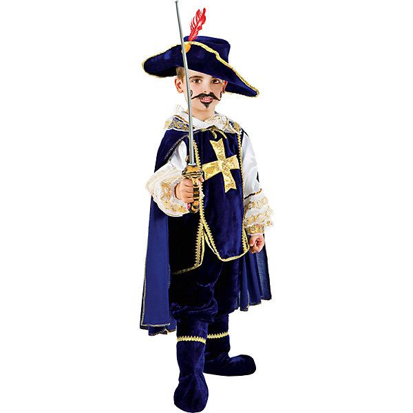 Карнавальный костюм Veneziano Мушкетер для мальчикаКарнавальные костюмы для мальчиков<br>Характеристики товара:<br><br>• цвет: синий;<br>• состав: 80% полиэстер, 20% акрил;<br>• в комплекте: костюм, плащ, шляпа, сапоги и шпага;<br>• сезон: круглый год;<br>• страна бренда: Италия;<br>• страна изготовитель: Италия.<br><br>Карнавальный костюм Veneziano для мальчика. Итальянский карнавальный костюм Veneziano «Мушкетёр». Кто не мечтает быть сильным и отважным? Этот карнавальный костюм идеально подойдёт для праздника. Костюм дополнен шпагой из пластмассы и сапогами из искусственного бархата. Мы готовы к приключениям!<br><br>Карнавальный костюм Veneziano можно купить в нашем интернет-магазине.<br>Ширина мм: 236; Глубина мм: 16; Высота мм: 184; Вес г: 177; Цвет: разноцветный; Возраст от месяцев: 18; Возраст до месяцев: 24; Пол: Мужской; Возраст: Детский; Размер: 92,116,104; SKU: 7336821;