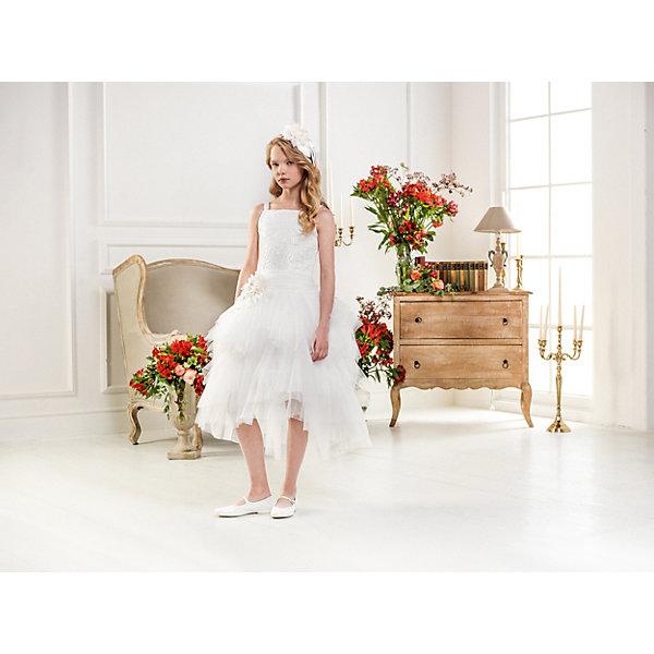 Нарядное платье Les Gamins для девочкиОдежда<br>Характеристики товара:<br><br>• цвет: белый;<br>• состав: 55% полиэстер, 45% вискоза;<br>• подкладка: 100% хлопок;<br>• сезон: круглый год;<br>• платье без рукавов;<br>• в комплекте: болеро и ободок;<br>• многослойная юбка;<br>• страна бренда: Италия;<br>• страна изготовитель: Китай.<br><br>Нарядное платье Les Gamins для девочки. Платье Les Gamins Cerimonia с юбкой-пачкой из нескольких слоёв нежного фатина. В комплекте с платьем идёт болеро и ободок.<br><br>Нарядное платье Les Gamins для девочки можно купить в нашем интернет-магазине.<br>Ширина мм: 236; Глубина мм: 16; Высота мм: 184; Вес г: 177; Цвет: белый; Возраст от месяцев: 84; Возраст до месяцев: 96; Пол: Женский; Возраст: Детский; Размер: 128,164,158,152,146,140,134; SKU: 7336894;