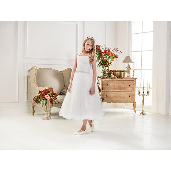 Купить Нарядное платье Les Gamins для девочки, Китай, белый, 128, 164, 158, 152, 146, 140, 134, Женский