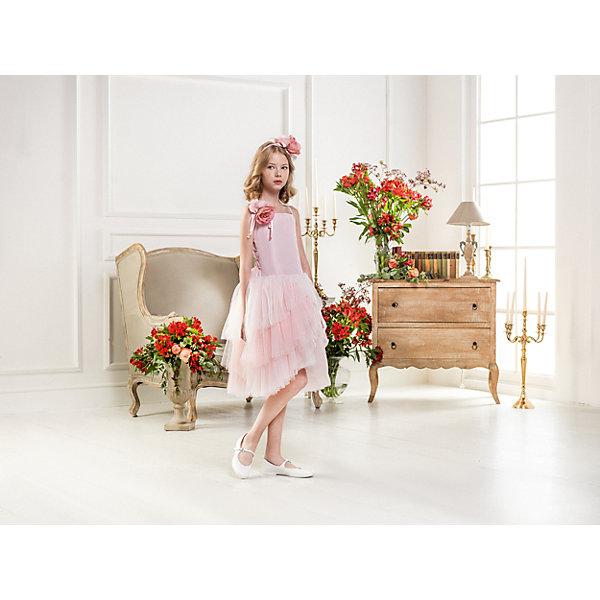 Нарядное платье Les Gamins для девочкиОдежда<br>Характеристики товара:<br><br>• цвет: розовый;<br>• состав: 55% полиэстер, 45% вискоза;<br>• подкладка: 100% хлопок;<br>• сезон: круглый год;<br>• платье на лямках;<br>• в комплекте: болеро и ободок;<br>• многослойная юбка;<br>• страна бренда: Италия;<br>• страна изготовитель: Китай.<br><br>Нарядное платье Les Gamins для девочки. Большое праздничное платье Les Gamins Cerimonia. Верх платья на тонких лямках, но в комплект входит болеро. Так же в комплект входит ободок. Пышная юбка из нескольких слоёв дополняет шарм. <br><br>Нарядное платье Les Gamins для девочки можно купить в нашем интернет-магазине.<br>Ширина мм: 236; Глубина мм: 16; Высота мм: 184; Вес г: 177; Цвет: розовый; Возраст от месяцев: 132; Возраст до месяцев: 144; Пол: Женский; Возраст: Детский; Размер: 152,128,134,140,146; SKU: 7336934;