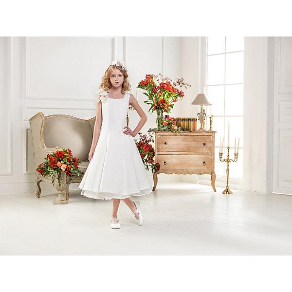 Нарядное платье Les Gamins для девочкиОдежда<br>Характеристики товара:<br><br>• цвет: белый;<br>• состав: 55% полиэстер, 45% вискоза;<br>• подкладка: 100% хлопок;<br>• сезон: круглый год;<br>• платье без рукавов;<br>• в комплекте: ободок и цветок;<br>• пышная юбка;<br>• страна бренда: Италия;<br>• страна изготовитель: Китай.<br><br>Нарядное платье Les Gamins для девочки. Это платье отличается своей элегантной кажущейся простотой. Платье имеет подъюбник, который делает юбку пышнее. Образ дополнит ободок и цветок, которые делают образ ещё более элегантным и нежным. Это платье Les Gamins Cerimonia, для ценителей элегантного шика.<br><br>Нарядное платье Les Gamins для девочки можно купить в нашем интернет-магазине.<br>Ширина мм: 236; Глубина мм: 16; Высота мм: 184; Вес г: 177; Цвет: белый; Возраст от месяцев: 96; Возраст до месяцев: 108; Пол: Женский; Возраст: Детский; Размер: 134,140,146,152,158,164,128; SKU: 7336964;