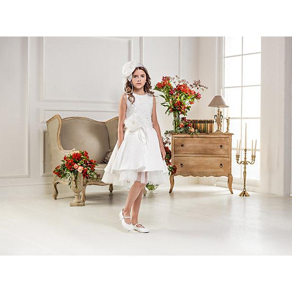 Нарядное платье Les Gamins для девочкиОдежда<br>Характеристики товара:<br><br>• цвет: белый;<br>• состав: 55% полиэстер, 45% вискоза;<br>• подкладка: 100% хлопок;<br>• сезон: круглый год;<br>• платье без рукавов;<br>• в комплекте: болеро и ободок;<br>• съёмный цветок на поясе;<br>• платье украшено пайетками;<br>• страна бренда: Италия;<br>• страна изготовитель: Китай.<br><br>Нарядное платье Les Gamins для девочки. Это праздничное платье понравиться, как маленьким принцессам, так и по старше. Такой большой цветок на поясе можно отстегнуть, верх платья украшают пайетки, а в комплект входит болеро и конечно же ободок.<br><br>Нарядное платье Les Gamins для девочки можно купить в нашем интернет-магазине.<br>Ширина мм: 236; Глубина мм: 16; Высота мм: 184; Вес г: 177; Цвет: белый; Возраст от месяцев: 156; Возраст до месяцев: 168; Пол: Женский; Возраст: Детский; Размер: 164,152,158,128,134,140,146; SKU: 7336992;