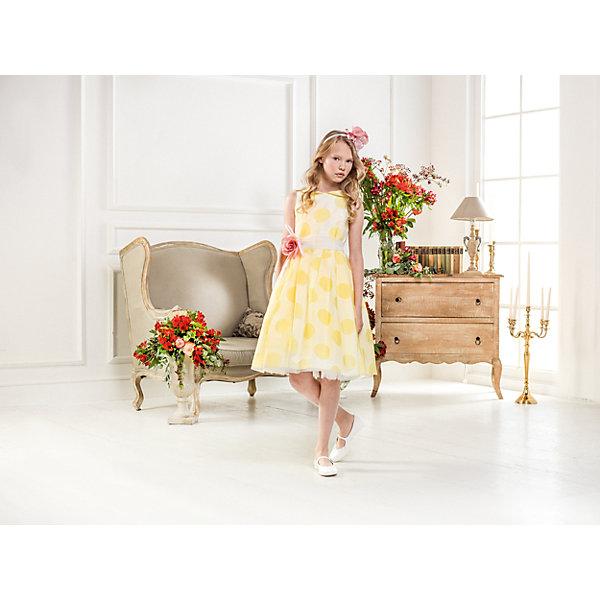 Нарядное платье Les Gamins для девочкиОдежда<br>Характеристики товара:<br><br>• цвет: желтый;<br>• состав: 55% полиэстер, 45% вискоза;<br>• подкладка: 100% хлопок;<br>• сезон: круглый год;<br>• платье без рукавов;<br>• в комплекте: болеро и ободок;<br>• страна бренда: Италия;<br>• страна изготовитель: Китай.<br><br>Нарядное платье Les Gamins для девочки. Солнечное нарядное платье, отлично дополненное ободком и болеро в комплекте, составит прекрасный ансамбль. Итальянские дизайнеры Les Gamins Cerimonia постарались совместить торжество, праздник и кажущуюся простоту в едином наряде. В комплекте болеро и ободок.<br><br>Нарядное платье Les Gamins для девочки можно купить в нашем интернет-магазине.<br>Ширина мм: 236; Глубина мм: 16; Высота мм: 184; Вес г: 177; Цвет: желтый; Возраст от месяцев: 156; Возраст до месяцев: 168; Пол: Женский; Возраст: Детский; Размер: 164,158,152,146,140,134,128; SKU: 7337008;