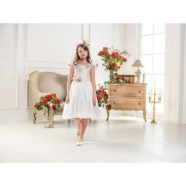 Нарядное платье Les Gamins для девочкиОдежда<br>Характеристики товара:<br><br>• цвет: белый;<br>• состав: 55% полиэстер, 45% вискоза;<br>• подкладка: 100% хлопок;<br>• сезон: круглый год;<br>• платье без рукавов;<br>• в комплекте: болеро и повязка;<br>• съемный цветок на поясе;<br>• страна бренда: Италия;<br>• страна изготовитель: Китай.<br><br>Нарядное платье Les Gamins для девочки. Это платье можно носить в любое время и по любому поводу. Если отстегнуть цветок от пояса, то можно пойти в гости, а если добавить болеро и повязку, которые входят в комплект с таким же цветком, как на поясе, то это платье подойдёт для бала.<br><br>Нарядное платье Les Gamins для девочки можно купить в нашем интернет-магазине.<br>Ширина мм: 236; Глубина мм: 16; Высота мм: 184; Вес г: 177; Цвет: белый; Возраст от месяцев: 84; Возраст до месяцев: 96; Пол: Женский; Возраст: Детский; Размер: 128,164,158,152,146,140,134; SKU: 7337024;