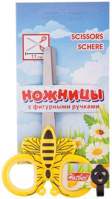 Ножницы детские Hatber Насекомые 11см, европодвес