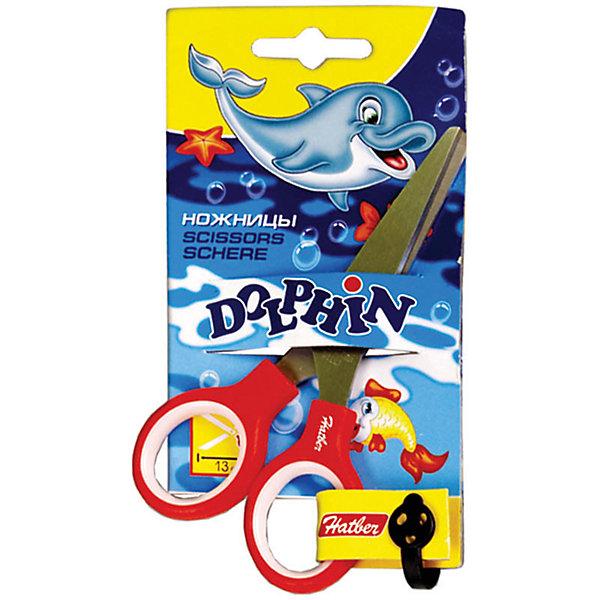 Ножницы детские Hatber Дельфин 13см, европодвесШкольные аксессуары<br>Характеристики:<br><br>• вес в упаковке: 41г.;<br>• материал: нержавеющая сталь, пластик;<br>• упаковка: картонный подвес;<br>• размер: 13см.;<br>• для детей в возрасте: от 7 лет.;<br>• страна производитель: Китай.<br><br>Ножницы детские «Дельфин», бренда «Hatber» (Хатбер) станет отличным приобретением для школьников. Это настоящие ножницы, ручки которых дополнены внутренними накладками. Они созданы из высококачественных, экологически чистых материалов.<br><br> Красивая форма не оставит равнодушным ни одного ребёнка и он с удовольствием будет выполнять, с помощью ножниц, различные задания. Они имеют оптимальную длину и закруглённые концы лезвий, что очень важно для безопасности. Использовать их можно для резки бумаги и тонкого картона.<br><br>Ножницы детские «Дельфин»,  можно купить в нашем интернет-магазине.<br><br>Ширина мм: 156<br>Глубина мм: 83<br>Высота мм: 7<br>Вес г: 41<br>Возраст от месяцев: 72<br>Возраст до месяцев: 2147483647<br>Пол: Унисекс<br>Возраст: Детский<br>SKU: 7338166