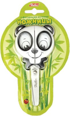 Ножницы детские Hatber Панда 13см, европодвес