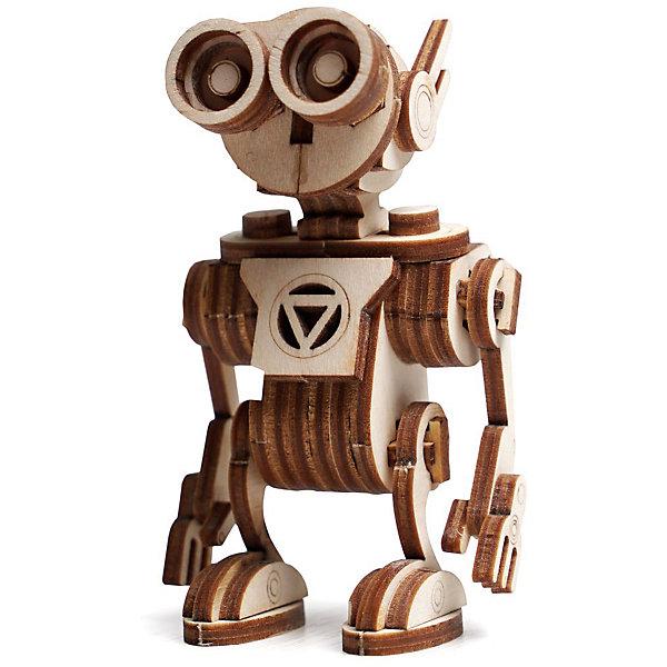 Сборная деревянная модель Lemmo Робот Санни, подвижнаяДеревянные модели<br>Характеристики:<br><br>• тип игрушки: конструктор<br>• возраст: от 5 лет;<br>• количество деталей: 56 шт;<br>• комплектация: клей ПВА, наждачная бумага, подробная инструкция;<br>• размер: 20x10х1 см;<br>• вес: 100 гр;<br>• бренд: Lemmo;<br>• материал: дерево.<br><br>Конструктор 3D подвижный Lemmo «Робот Санни» понравится  детям от 5 лет. Санни - это младший брат Сана и его верный соратник. После сборки получается симпатичный робот, у которого опускаются и поднимаются руки и голова двигается вверх-вниз. На голове у Санни есть специальная петелька для того, чтобы можно было повесить его как брелок на ключи, рюкзак, портфель или зеркало заднего вида в машине.  <br><br>Экологически чистые, развивающие конструкторы от российского производителя «Lemmo» помогут вашему ребенку развить мелкую моторику рук, воображение, пространственное мышление, логику и предметное моделирование.<br><br>Все детали выполнены из качественной древесины и имеют сильный насыщенный запах дерева. Наборы укомплектованы клеем ПВА и наждачной бумагой. Любой конструктор после сборки можно раскрасить акриловыми и гуашевыми красками, но даже без этого в результате получается полноценная красивая игрушка с подвижными элементами. <br><br>Конструктор 3D подвижный Lemmo «Робот Санни» можно купить в нашем интернет-магазине.<br>Ширина мм: 200; Глубина мм: 100; Высота мм: 10; Вес г: 100; Возраст от месяцев: 60; Возраст до месяцев: 2147483647; Пол: Унисекс; Возраст: Детский; SKU: 7338203;