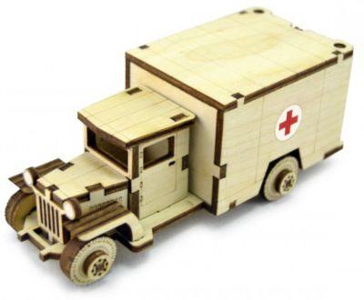 Сборная деревянная модель Lemmo Советский грузовик ЗИС-5м , подвижная