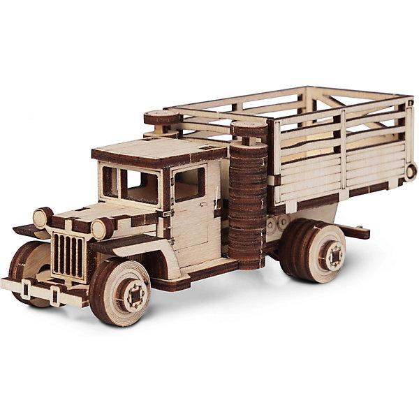 Сборная деревянная модель Lemmo ЗИС 5ВБ с кузовом, подвижнаяДеревянные модели<br>Характеристики:<br><br>• тип игрушки: конструктор<br>• возраст: от 5 лет;<br>• количество деталей: 79 шт;<br>• комплектация: клей ПВА, наждачная бумага, подробная инструкция;<br>• размер: 20x10х1 см;<br>• вес: 80 гр;<br>• бренд: Lemmo;<br>• материал: дерево.<br><br>Конструктор 3D подвижный Lemmo «Грузовик ЗИС 5ВБ с кузовом» - это небольшой набор, подойдет для самостоятельной сборки детям от 5 лет, а детям помладше понадобится помощь родителей. В собранном виде у грузовика крутятся колеса, и он отлично ездит по любой поверхности.<br><br>Экологически чистые, развивающие конструкторы от российского производителя «Lemmo» помогут вашему ребенку развить мелкую моторику рук, воображение, пространственное мышление, логику и предметное моделирование.<br><br>Все детали выполнены из качественной древесины и имеют сильный насыщенный запах дерева. Наборы укомплектованы клеем ПВА и наждачной бумагой. Любой конструктор после сборки можно раскрасить акриловыми и гуашевыми красками, но даже без этого в результате получается полноценная красивая игрушка с подвижными элементами. <br><br>Конструктор 3D подвижный Lemmo «Грузовик ЗИС 5ВБ с кузовом» можно купить в нашем интернет-магазине.<br>Ширина мм: 200; Глубина мм: 100; Высота мм: 10; Вес г: 80; Возраст от месяцев: 60; Возраст до месяцев: 2147483647; Пол: Мужской; Возраст: Детский; SKU: 7338208;