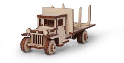 Сборная деревянная модель Lemmo Грузовик ЗИС 12. Лесовоз , подвижная