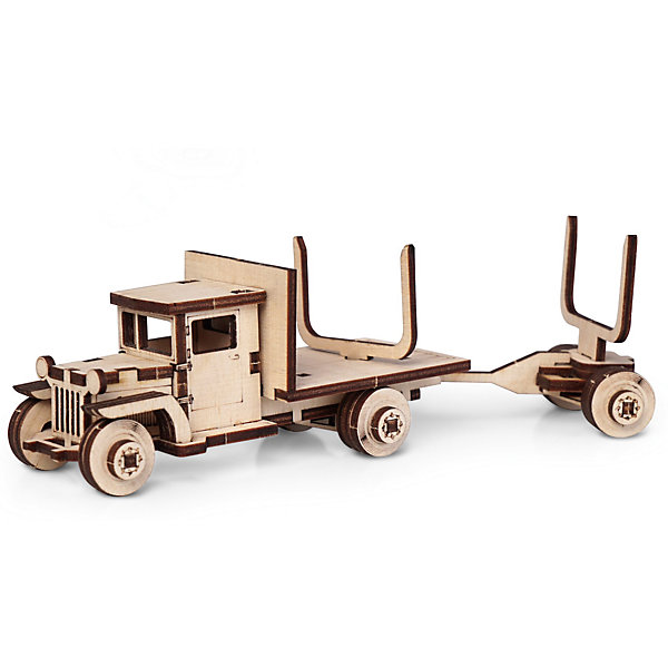 Сборная деревянная модель Lemmo ЗИС 5В с роспуском, подвижнаяДеревянные модели<br>Характеристики:<br><br>• тип игрушки: конструктор<br>• возраст: от 5 лет;<br>• количество деталей: 57 шт;<br>• комплектация: клей ПВА, наждачная бумага, подробная инструкция;<br>• размер: 20x10х1 см;<br>• вес: 80 гр;<br>• бренд: Lemmo;<br>• материал: дерево.<br><br>Конструктор 3D подвижный Lemmo «Грузовик ЗИС 5В с роспуском» - это небольшой набор, подойдет для самостоятельной сборки детям от 5 лет, а детям помладше понадобится помощь родителей. В собранном виде у грузовика крутятся колеса, и он отлично ездит по любой поверхности.<br><br>Экологически чистые, развивающие конструкторы от российского производителя «Lemmo» помогут вашему ребенку развить мелкую моторику рук, воображение, пространственное мышление, логику и предметное моделирование.<br><br>Все детали выполнены из качественной древесины и имеют сильный насыщенный запах дерева. Наборы укомплектованы клеем ПВА и наждачной бумагой. Любой конструктор после сборки можно раскрасить акриловыми и гуашевыми красками, но даже без этого в результате получается полноценная красивая игрушка с подвижными элементами. <br><br>Конструктор 3D подвижный Lemmo «Грузовик ЗИС 5В с роспуском» можно купить в нашем интернет-магазине.<br>Ширина мм: 200; Глубина мм: 100; Высота мм: 10; Вес г: 80; Возраст от месяцев: 60; Возраст до месяцев: 2147483647; Пол: Мужской; Возраст: Детский; SKU: 7338213;