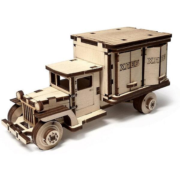 Сборная деревянная модель Lemmo Грузовик ЗИС 5. Фургон, подвижнаяДеревянные модели<br>Характеристики:<br><br>• тип игрушки: конструктор<br>• возраст: от 5 лет;<br>• количество деталей: 60 шт;<br>• комплектация: клей ПВА, наждачная бумага, подробная инструкция;<br>• размер: 20x10х1 см;<br>• вес: 80 гр;<br>• бренд: Lemmo;<br>• материал: дерево.<br><br>Конструктор 3D подвижный Lemmo «Грузовик ЗИС 5 Фургон» - это небольшой набор, подойдет для самостоятельной сборки детям от 5 лет, а детям помладше понадобится помощь родителей. В собранном виде у грузовика крутятся колеса, и он отлично ездит по любой поверхности.<br><br>Экологически чистые, развивающие конструкторы от российского производителя «Lemmo» помогут вашему ребенку развить мелкую моторику рук, воображение, пространственное мышление, логику и предметное моделирование.<br><br>Все детали выполнены из качественной древесины и имеют сильный насыщенный запах дерева. Наборы укомплектованы клеем ПВА и наждачной бумагой. Любой конструктор после сборки можно раскрасить акриловыми и гуашевыми красками, но даже без этого в результате получается полноценная красивая игрушка с подвижными элементами. <br><br>Конструктор 3D подвижный Lemmo «Грузовик ЗИС 5 Фургон» можно купить в нашем интернет-магазине.<br>Ширина мм: 200; Глубина мм: 100; Высота мм: 10; Вес г: 80; Возраст от месяцев: 60; Возраст до месяцев: 2147483647; Пол: Мужской; Возраст: Детский; SKU: 7338215;
