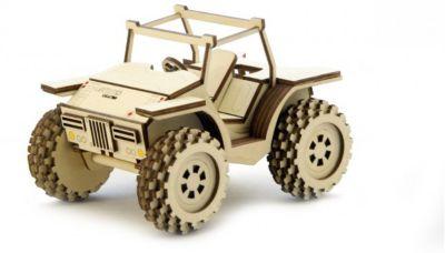 Сборная деревянная модель Lemmo Багги , подвижная