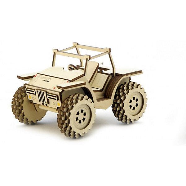 Сборная деревянная модель Lemmo Багги, подвижнаяДеревянные модели<br>Характеристики:<br><br>• тип игрушки: конструктор<br>• возраст: от 5 лет;<br>• количество деталей: 69 шт;<br>• комплектация: наждачная бумага, подробная инструкция, клей ПВА;<br>• размер: 22x14,5х5,5 см;<br>• вес: 400 гр;<br>• бренд: Lemmo;<br>• материал: дерево.<br><br>Конструктор 3D подвижный Lemmo «Багги»  легкий высокий автомобиль с мощными колесами, в собранном виде отлично ездит по любой поверхности. <br><br>Экологически чистые, развивающие конструкторы от российского производителя «Lemmo» помогут вашему ребенку развить мелкую моторику рук, воображение, пространственное мышление, логику и предметное моделирование.<br><br>Все детали выполнены из качественной древесины и имеют сильный насыщенный запах дерева. Наборы укомплектованы клеем ПВА и наждачной бумагой. Любой конструктор после сборки можно раскрасить акриловыми и гуашевыми красками, но даже без этого в результате получается полноценная красивая игрушка с подвижными элементами.<br><br>Конструктор 3D подвижный Lemmo «Багги» можно купить в нашем интернет-магазине.<br>Ширина мм: 220; Глубина мм: 145; Высота мм: 55; Вес г: 400; Возраст от месяцев: 60; Возраст до месяцев: 2147483647; Пол: Унисекс; Возраст: Детский; SKU: 7338231;