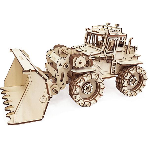 Сборная деревянная модель Lemmo Трактор Бульдог, подвижнаяДеревянные модели<br>Характеристики:<br><br>• тип игрушки: конструктор<br>• возраст: от 5 лет;<br>• количество деталей: 133 шт;<br>• комплектация: наждачная бумага, подробная инструкция, клей ПВА;<br>• размер: 32x22х4,5 см;<br>• вес: 580 гр;<br>• бренд: Lemmo;<br>• материал: дерево.<br><br>Конструктор 3D подвижный Lemmo «Трактор Бульдог» станет прекрасным подарком для мальчишек в возрасте от 5 лет. У собранной модели вращаются колеса, поднимается и фиксируется ковш.<br><br>Экологически чистые, развивающие конструкторы от российского производителя «Lemmo» помогут вашему ребенку развить мелкую моторику рук, воображение, пространственное мышление, логику и предметное моделирование.<br><br>Все детали выполнены из качественной древесины и имеют сильный насыщенный запах дерева. Наборы укомплектованы клеем ПВА и наждачной бумагой. Любой конструктор после сборки можно раскрасить акриловыми и гуашевыми красками, но даже без этого в результате получается полноценная красивая игрушка с подвижными элементами.<br><br>Конструктор 3D подвижный Lemmo «Трактор Бульдог» можно купить в нашем интернет-магазине.<br>Ширина мм: 320; Глубина мм: 220; Высота мм: 45; Вес г: 580; Возраст от месяцев: 60; Возраст до месяцев: 2147483647; Пол: Унисекс; Возраст: Детский; SKU: 7338236;