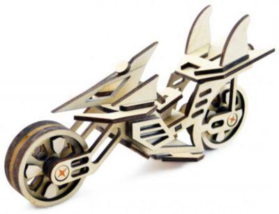 Сборная деревянная модель Lemmo Мотоцикл Фантом , подвижная
