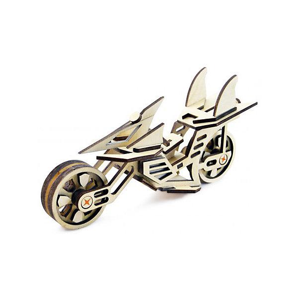 Сборная деревянная модель Lemmo Мотоцикл Фантом, подвижнаяДеревянные модели<br>Характеристики:<br><br>• тип игрушки: конструктор<br>• возраст: от 5 лет;<br>• количество деталей: 50 шт;<br>• комплектация: наждачная бумага, подробная инструкция, клей ПВА;<br>• размер: 20x10х1 см;<br>• вес: 150 гр;<br>• бренд: Lemmo;<br>• материал: дерево.<br><br>Конструктор 3D подвижный Lemmo «Мотоцикл Фантом» станет прекрасным подарком для мальчишек в возрасте от 5 лет. У собранной модели крутятся колеса.<br><br>Экологически чистые, развивающие конструкторы от российского производителя «Lemmo» помогут вашему ребенку развить мелкую моторику рук, воображение, пространственное мышление, логику и предметное моделирование.<br><br>Все детали выполнены из качественной древесины и имеют сильный насыщенный запах дерева. Наборы укомплектованы клеем ПВА и наждачной бумагой. Любой конструктор после сборки можно раскрасить акриловыми и гуашевыми красками, но даже без этого в результате получается полноценная красивая игрушка с подвижными элементами.<br><br>Конструктор 3D подвижный Lemmo «Мотоцикл Фантом» можно купить в нашем интернет-магазине.<br>Ширина мм: 200; Глубина мм: 100; Высота мм: 10; Вес г: 150; Возраст от месяцев: 60; Возраст до месяцев: 2147483647; Пол: Унисекс; Возраст: Детский; SKU: 7338237;