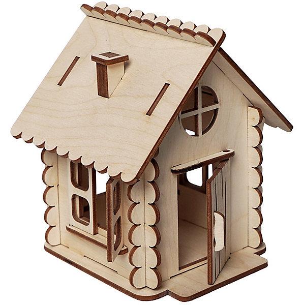 Сборная деревянная модель Lemmo Домик малы, подвижнаяДеревянные модели<br>Характеристики:<br><br>• тип игрушки: конструктор;<br>• комплектация: наждачная бумага, подробная инструкция, клей ПВА;<br>• возраст: от 5 лет;<br>• количество деталей: 26 шт;<br>• размер: 121x12х4 см;<br>• вес: 190 гр;<br>• бренд: Lemmo;<br>• материал: дерево.<br><br>Конструктор 3D подвижный Lemmo  «Домик Малый» – один из самых простых в сборке. В собранном виде у домика открываются дверь и окна, а выглядит он как избушка из сказки, поэтому дети будут с удовольствием с ним играть и придумывать разные сюжеты.<br><br>Экологически чистые, развивающие конструкторы от российского производителя «Lemmo» помогут вашему ребенку развить мелкую моторику рук, воображение, пространственное мышление, логику и предметное моделирование.<br><br>Все детали выполнены из качественной древесины и имеют сильный насыщенный запах дерева. Наборы укомплектованы клеем ПВА и наждачной бумагой. Любой конструктор после сборки можно раскрасить акриловыми и гуашевыми красками, но даже без этого в результате получается полноценная красивая игрушка с подвижными элементами.<br><br>Конструктор 3D подвижный Lemmo  «Домик Малый»  можно купить в нашем интернет-магазине.<br>Ширина мм: 210; Глубина мм: 120; Высота мм: 40; Вес г: 190; Возраст от месяцев: 60; Возраст до месяцев: 2147483647; Пол: Женский; Возраст: Детский; SKU: 7338241;