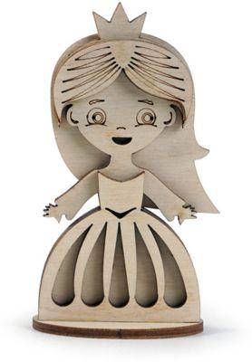 Сборная деревянная модель Lemmo Маленькая принцесса , подвижная
