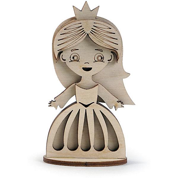 Сборная деревянная модель Lemmo Маленькая принцесса, подвижнаяДеревянные модели<br>Характеристики:<br><br>• тип игрушки: конструктор;<br>• комплектация: наждачная бумага, подробная инструкция, клей ПВА;<br>• возраст: от 5 лет;<br>• количество деталей: 7 шт;<br>• размер: 13x8х1 см;<br>• вес: 30 гр;<br>• бренд: Lemmo;<br>• материал: дерево.<br><br>Конструктор 3D Lemmo «Маленькая принцесса» – самый маленький и простой конструктор у Леммо. Фигурка также продается в наборе Сказочный замок, который помимо замка включает в себя набор деревянных персонажей - принцессу, принца, дракона, лошадь и стражников. <br><br>Экологически чистые, развивающие конструкторы от российского производителя «Lemmo» помогут вашему ребенку развить мелкую моторику рук, воображение, пространственное мышление, логику и предметное моделирование.<br><br>Все детали выполнены из качественной древесины и имеют сильный насыщенный запах дерева. Наборы укомплектованы клеем ПВА и наждачной бумагой. Любой конструктор после сборки можно раскрасить акриловыми и гуашевыми красками, но даже без этого в результате получается полноценная красивая игрушка с подвижными элементами.<br><br>Конструктор 3D Lemmo «Маленькая принцесса» можно купить в нашем интернет-магазине.<br>Ширина мм: 130; Глубина мм: 80; Высота мм: 10; Вес г: 30; Возраст от месяцев: 60; Возраст до месяцев: 2147483647; Пол: Унисекс; Возраст: Детский; SKU: 7338242;