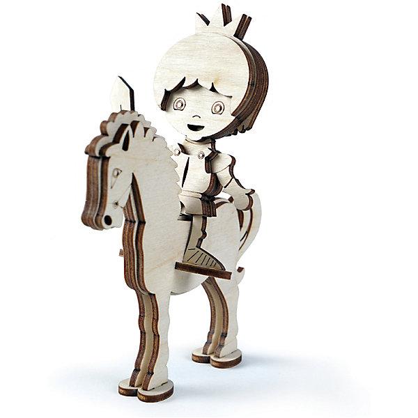 Сборная деревянная модель Lemmo Принц на лошади, подвижнаяДеревянные модели<br>Характеристики:<br><br>• тип игрушки: конструктор;<br>• комплектация: наждачная бумага, клей ПВА;<br>• возраст: от 5 лет;<br>• количество деталей: 14шт;<br>• размер: 20x10х2 см;<br>• вес: 70 гр;<br>• бренд: Lemmo;<br>• материал: дерево.<br><br>Конструктор 3D Lemmo «Принц на лошади» – один из самый маленьких и простых конструкторов у Леммо. Фигурка также продается в наборе Сказочный замок, который помимо замка включает в себя набор деревянных персонажей - принцессу, принца, дракона, лошадь и стражников. <br><br>Экологически чистые, развивающие конструкторы от российского производителя «Lemmo» помогут вашему ребенку развить мелкую моторику рук, воображение, пространственное мышление, логику и предметное моделирование.<br><br>Все детали выполнены из качественной древесины и имеют сильный насыщенный запах дерева. Наборы укомплектованы клеем ПВА и наждачной бумагой. Любой конструктор после сборки можно раскрасить акриловыми и гуашевыми красками, но даже без этого в результате получается полноценная красивая игрушка с подвижными элементами.<br><br>Конструктор 3D Lemmo «Принц на лошади» можно купить в нашем интернет-магазине.<br><br>Ширина мм: 200<br>Глубина мм: 100<br>Высота мм: 20<br>Вес г: 70<br>Возраст от месяцев: 60<br>Возраст до месяцев: 2147483647<br>Пол: Унисекс<br>Возраст: Детский<br>SKU: 7338244